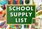 MSD Connects School Supply List