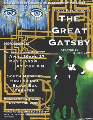 theater poster for The Great Gatsby