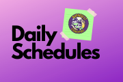 Daily Schedules At a Glance