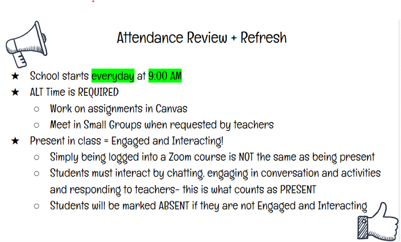 Attendance Review + Refresh