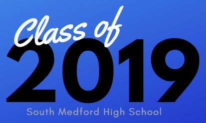 class of 2019 on blue background