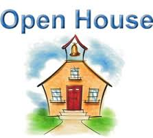 open house with schoolhouse photo