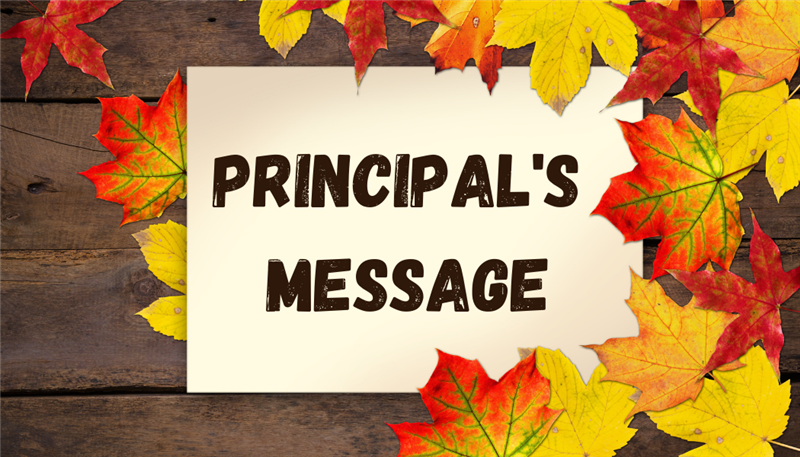 Principal's Message - SMHS Students Go Full Time!