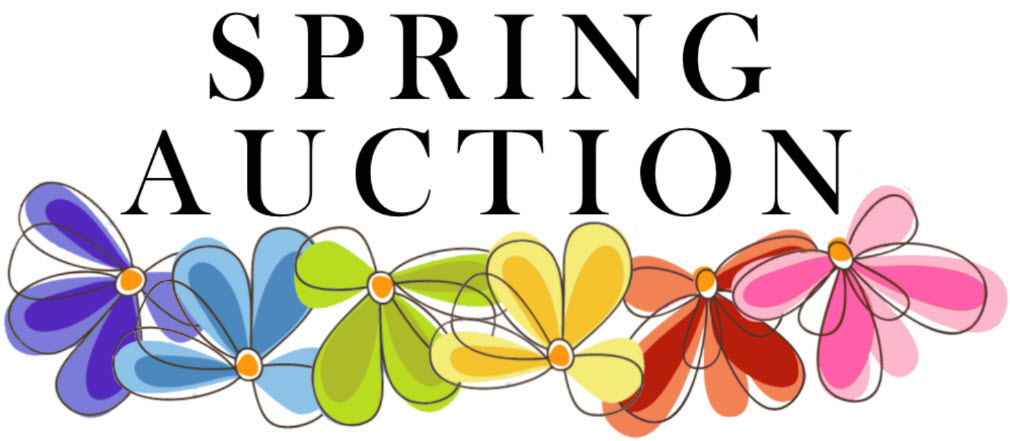 spring auction image with flowers