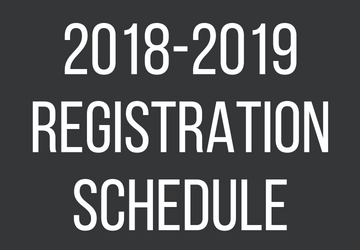 2018-2019 Registration Schedule/Horario de Matrículas