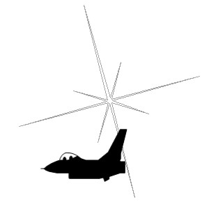 Black and White Jet logo