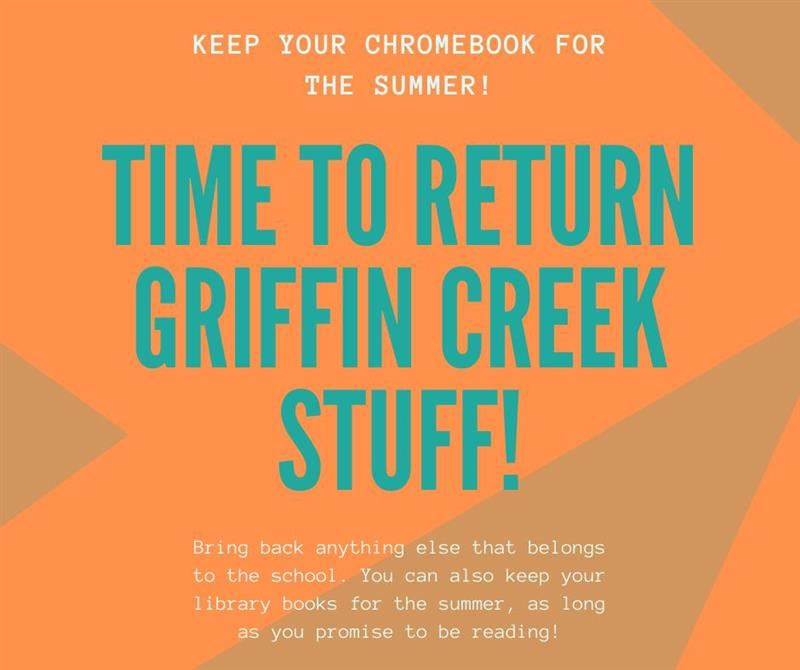 Time to Return Stuff - May 27 from 9:00-3:00 p.m.